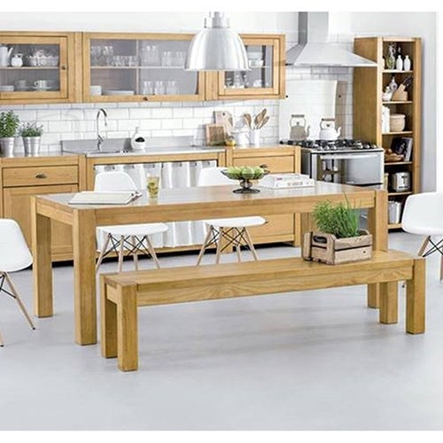 The Curated Nomad Hosquith Pine Wood Dining Table