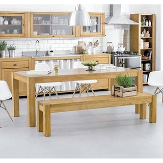 The Curated Nomad Hosquith Pine Wood Dining Table - Thumbnail 0