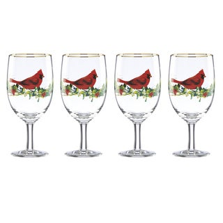 Lenox Winter Greetings Cardinal Iced Beverage Glass (Pack of 4)