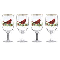 Lenox Winter Greetings Cardinal Iced Beverage Glass (Pack of 4)