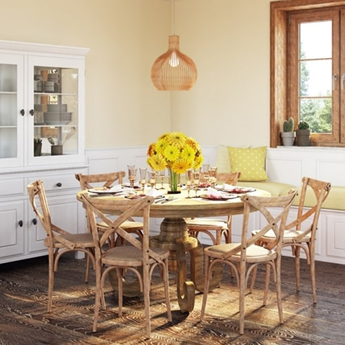 Artefama Phill Distressed Oak Round Dining Table On Sale Overstock 12172424