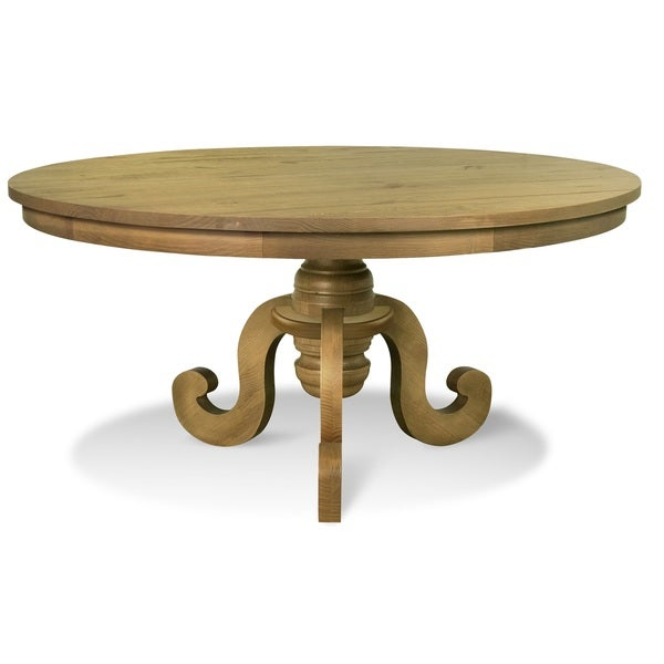 Artefama Phill Distressed Oak Round Dining Table Free Shipping Today