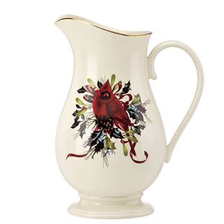 Lenox Winter Greetings Earthenware Pitcher
