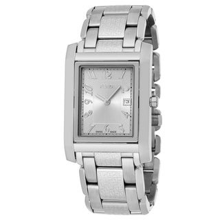 Fendi Men's F765160B 'Loop Rectangle' Silver Dial Stainless Steel Swiss Quartz Large Watch