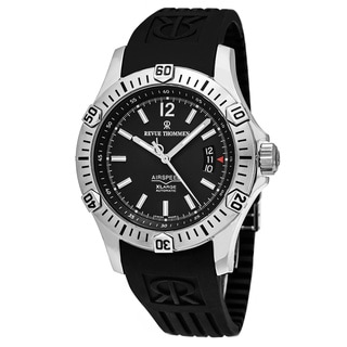 Revue Thommen 16070.4632 'Air Speed' Black Dial Black Rubber Strap Swiss Automatic Watch