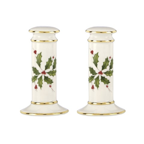Lenox Holiday Archive Porcelain Salt and Pepper Shaker Set
