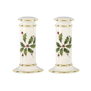 Lenox Holiday Archive Porcelain Salt and Pepper Shaker Set