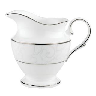 Lenox Venetian Lace Silver Ceramic Creamer