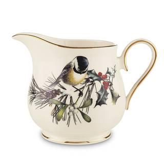 Winter Greetings Gold Ceramic Creamer