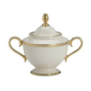 Lenox Tuxedo Ceramic Sugar Bowl with Lid
