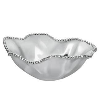 Lenox Organics Beaded Wave Metal Bowl