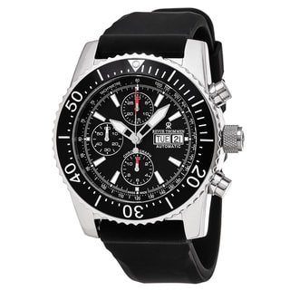 Revue Thommen 17030.6534 'Air Speed' Black Dial Black Rubber Strap Chronograph Swiss Automatic Watch