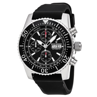 Link to Revue Thommen 17030.6534 'Air Speed' Black Dial Black Rubber Strap Chronograph Swiss Automatic Watch Similar Items in Men's Watches