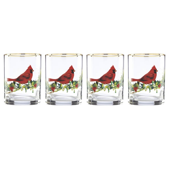 Lenox Winter Greetings 4-piece Double Old Fashion Glass Set