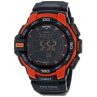 Casio Men's PRG-270-4CR 'Pro Trek' Digital Black Resin Watch