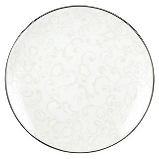 Lenox Venetian Lace White with Platinum Accent China Dinnerware Plate