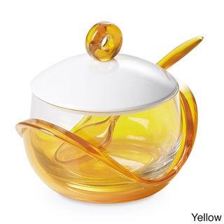 Lorren Home Trend Omada-Italy Cheese/ Sugar Bowl with Teaspoon