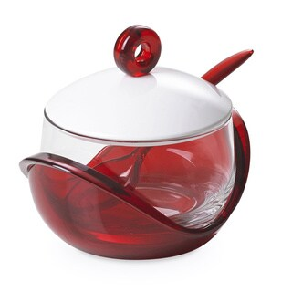 Lorren Home Trend Omada-Italy Cheese/ Sugar Bowl with Teaspoon