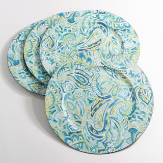 Decorative Collection Paisley Design Charger Plate (Set of 4)