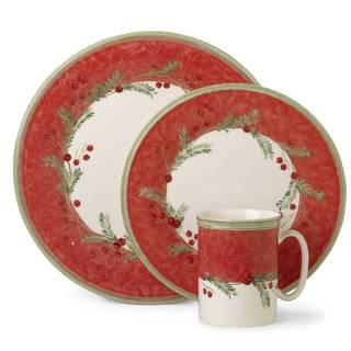 Lenox Holiday Wreath Dishwasher Safe Dinner Plate