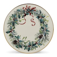 Lenox winter greetings bone china cardinal accent plate free lenox winter greetings ivory china24k gold butter plate m4hsunfo