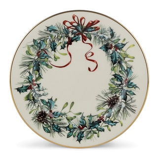 lenox winter greetings ivory china24k gold butter plate