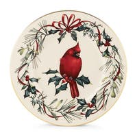 Lenox Winter Greetings Bone China Cardinal Accent Plate