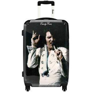 iKase Elvis Presley 14 20-inch Fashion Hardside Carry-on Spinner Suitcase