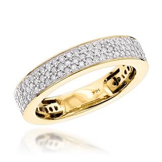 Luxurman 14k Gold 2/5ct TDW Diamond Thin Wedding Band