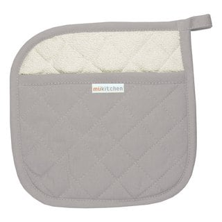 MUkitchen Nickel 100-percent Quilted Cotton 9-inch Square Pot Holder