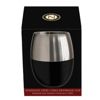 Cork Pops Nicholas Collection Stainless Steel Freezer Gel Filled Beverage Cup