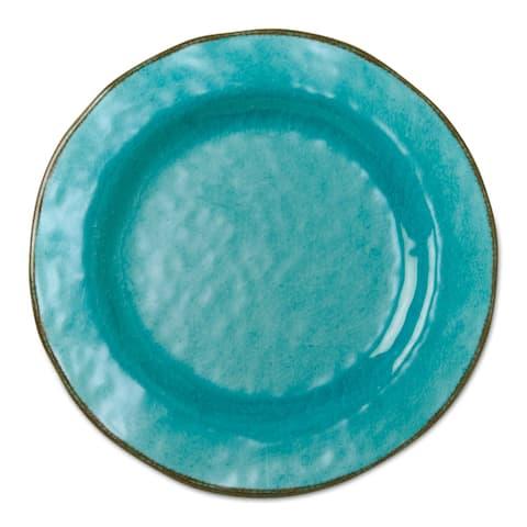 TAG Veranda Melamine Salad Plates Ocean Blue