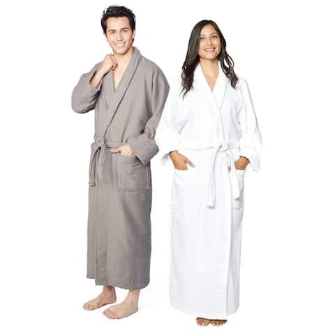 Superior Cotton Waffle Weave Spa Bath Robe