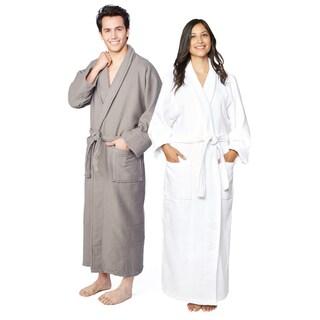 Shop Superior Cotton Waffle Weave Spa Bath Robe - Free Shipping ... e9ddd3dd7
