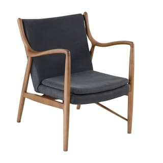 Grey Upholstery Walnut Frame Finn Juhl-inspired 45 Chair