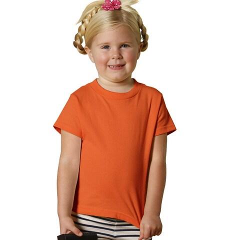 Youth Orange Short-sleeved Jersey T-shirt