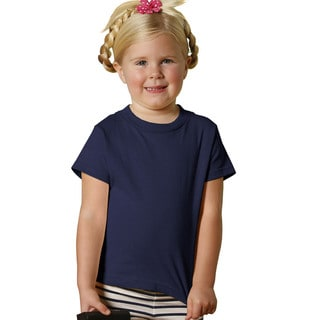 Youth Navy Short-sleeve Jersey Shirt (Option: 4t)