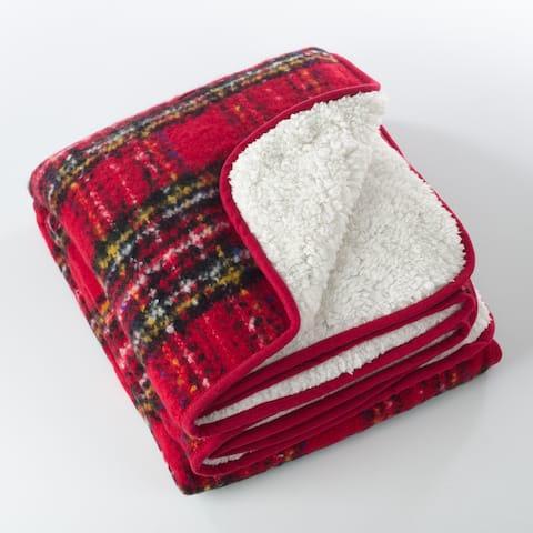Sevan Collection Faux Mohair Design Sherpa Throw Blanket