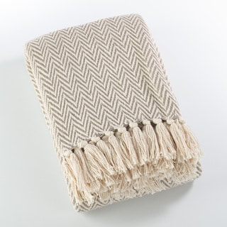 Sevan Collection Soft Cotton Chevron Throw Blanket