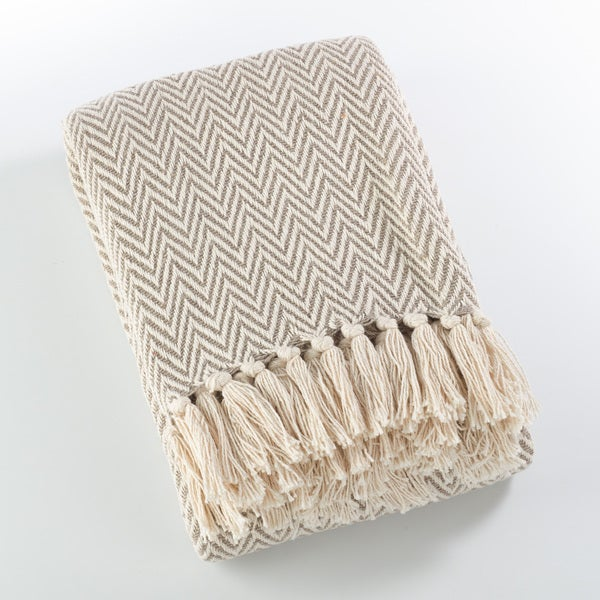 shop sevan collection soft cotton chevron throw blanket on sale free shipping on orders over. Black Bedroom Furniture Sets. Home Design Ideas