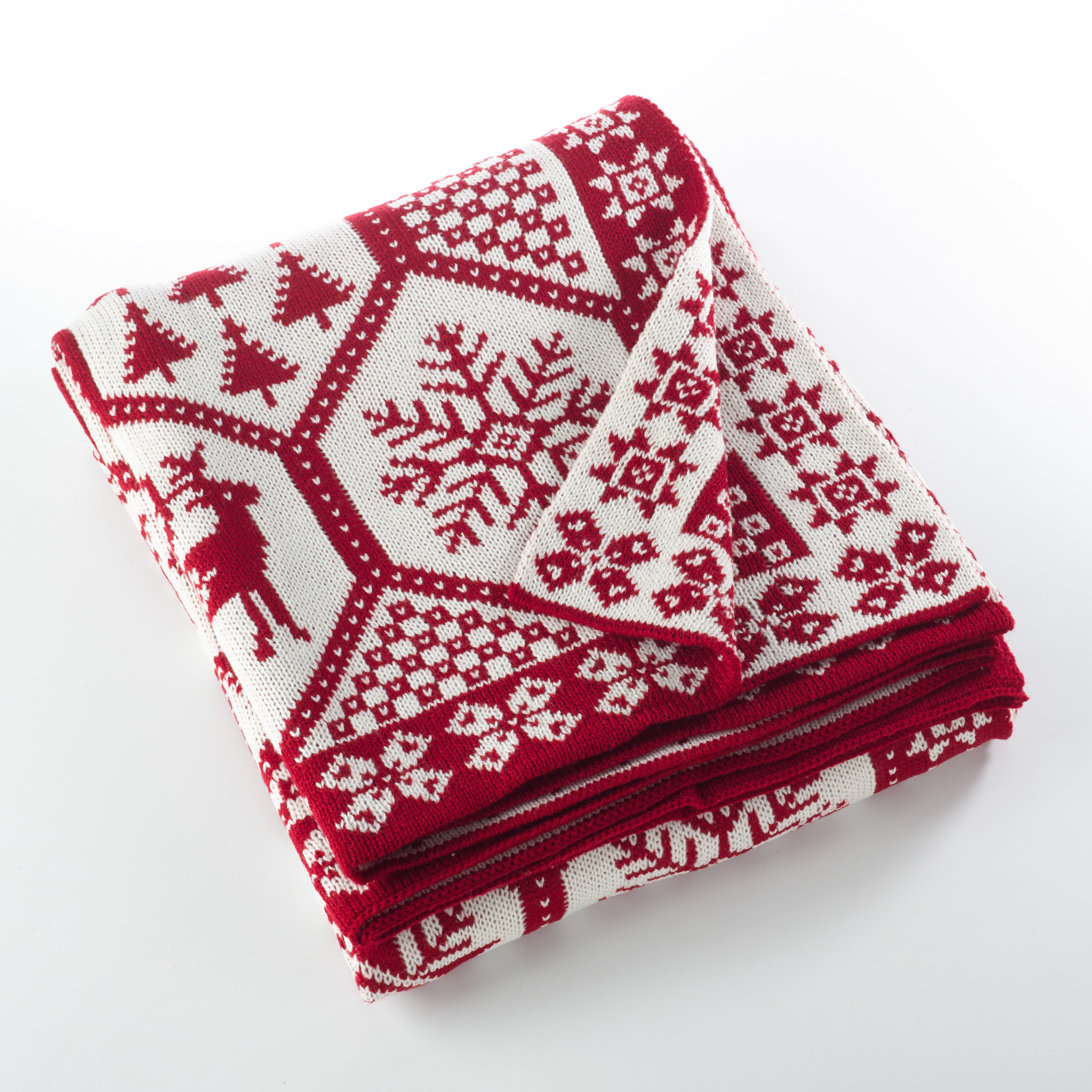 Christmas Throw Blanket.Sevan Collection Christmas Design Knitted Throw Blanket