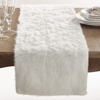 Juneau Collection Faux Fur Table Runner (Option: Black)|https://ak1.ostkcdn.com/images/products/12172790/P19024361.jpg?impolicy=medium