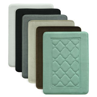 Microban Antimicrobial Memory Foam Bath Rug (4 options available)