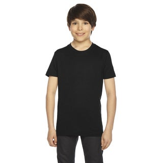American Apparel Boys' Black 50/50 Poly/Cotton Short-sleeved T-shirt (3 options available)