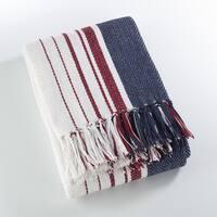 Sevan Collection Soft Cotton Striped Throw Blanket