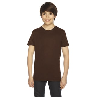 American Apparel Boys' Brown 50/50 Polyester/Cotton Short-sleeved T-shirt