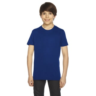 Youth Lapis 50/50 Poly/Cotton Short-sleeved T-shirt