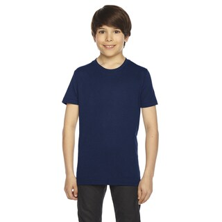 American Apparel Boys' Navy 50/50 Poly-cotton Short-sleeve T-shirt (3 options available)