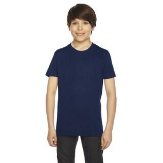 American Apparel Boys' Navy 50/50 Poly-cotton Short-sleeve T-shirt