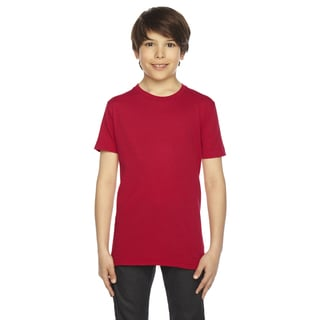 American Apparel Boys' Red 50/50 Poly-cotton Short-sleeve T-shirt